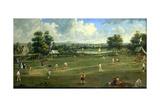 Cricket Match at Brading  Isle of Wight  1760