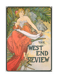 Poster Advertising 'The West End Review'  1898