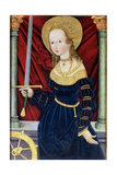 St Catherine of Alexandria  School of Saxony  2nd Half of 15th Century