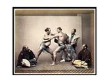 Sumo Wrestlers  c1870-80