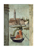 The Arrival of the English Ambassadors  from the St Ursula Cycle  Detail of a Gondola  1490-96