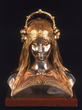 Head of a Girl  1900 (Bronze  Silver and Parcel Gilt)