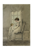 Portrait of Mrs Nixon with Her Child  New King Street  Bath  1800