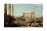 The Ruins of the Temple of the Sun at Baalbec  1861