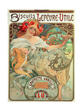 Poster Advertising 'Lefevre-Utile' Biscuits  1896