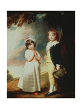 Portrait of Edward Stanley (D1851) 13th Earl of Derby  with His Sister  Lady Charlotte Stanley