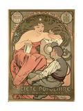 Poster Advertising the 'Societe Populaire Des Beaux-Arts  1897
