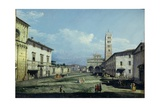 The Piazza San Martino and the Duomo  Lucca  c1747