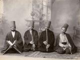 Three Dervish Musicians and a Singer  Turkey  c1890