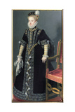 Portrait of Anne of Austria  Queen of Spain (1549-80) Daughter of Emperor Maximilian II and 4th