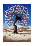 Black Cat in a Magnolia Tree  1988