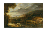 Landscape with Mill and Washerwomen