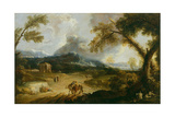 Landscape with Monks and Travellers