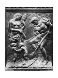 Adam and Eve Forced to Work  Panel from the Porta Magna  c1430