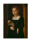 Portrait of a Girl with Dog