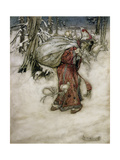 Santa Claus  Illustration from 'Arthur Rackham's Book of Pictures'  1907  Published 1913