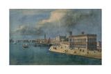 Cadorin's Design for the Riva Degli Schiavoni  Seen from the Ponte Veneta Marina  c1851