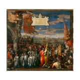 Doge Andrea Contarini's Return to Venice after the Victory over the Genovese at the Battle of…