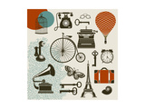 Ephemera - Set Of Design Elements And Vintage Symbols Of The Old Era