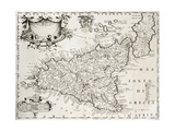 An Old Map Of Sicily  The Original Was Created By V
