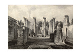 Antique Illustration Of Pompeii Roman House  Southern Italy