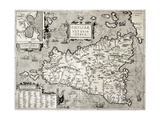 Antique Map Of Sicily With Syracuse Detail