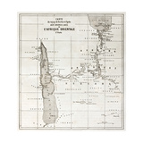 Great Lakes Region Old Map  Eastern Africa