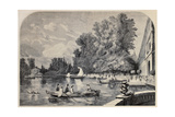 Antique Illustrations Of Fontainebleau Basin And Castle