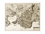 Antique Map Of Syracuse  Sicily