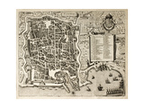 Antique Map Of Palermo  The Main Town In Sicily