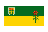 Illustration Of Canadian State Of Saskatchewan Flag  Canada
