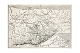 Kabylie Old Map  Algeria Created By Erhard  Published On Le Tour Du Monde  Paris  1867