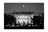 The White House At Night - Washington Dc  United States - Black And White