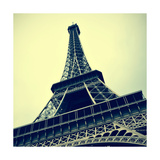 Picture Of The Eiffel Tower In Paris  France  With A Retro Effect