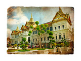 Grand Palace - Bangkok - Retro Styled Picture
