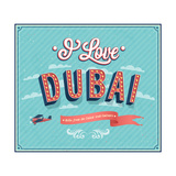 Vintage Greeting Card From Dubai - United Arab Emirates
