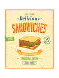 Vintage Sandwiches Poster