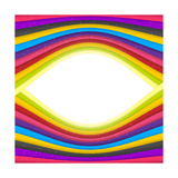 Rainbow Colored Stripes Banner Abstract