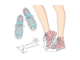 Shoes With Floral Pattern