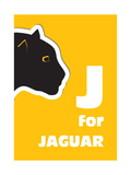 J For The Jaguar, An Animal Alphabet For The Kids Reproduction d'art par Elizabeta Lexa