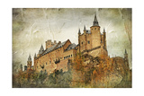 Medieval Castle Alcazar  Segovia Spain- Picture In Paintig Style