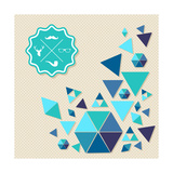 Unusual Vintage Hipsters Label Icons Geometric Elements