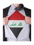 Business Man With Iraqi Flag T-Shirt