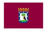 Illustration Of Madrid City Flag  Spain