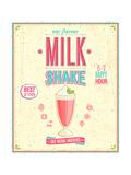 Vintage Milkshake Poster