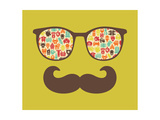 Retro Sunglasses With Reflection For Hipster