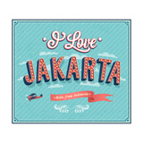 Vintage Greeting Card From Jakarta - Indonesia