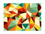 Trendy Vintage Geometric Seamless Pattern Reproduction d'art par Cienpies