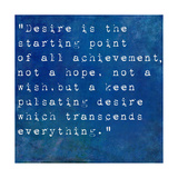 Inspirational Quote By Napoleon Hill On Earthy Blue Background