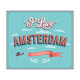Vintage Greeting Card From Amsterdam - Netherlands